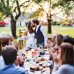 Hochzeit Gartenparty