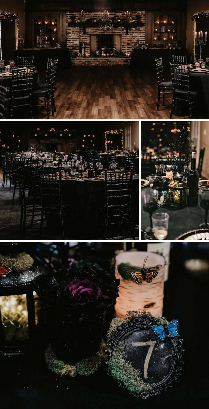 Gothic Hochzeit Deko
