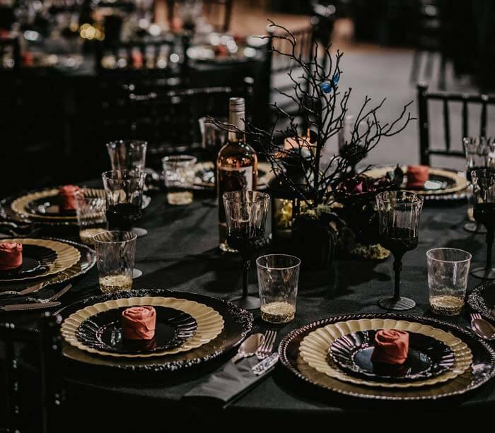 Gothic Hochzeit Tischdeko