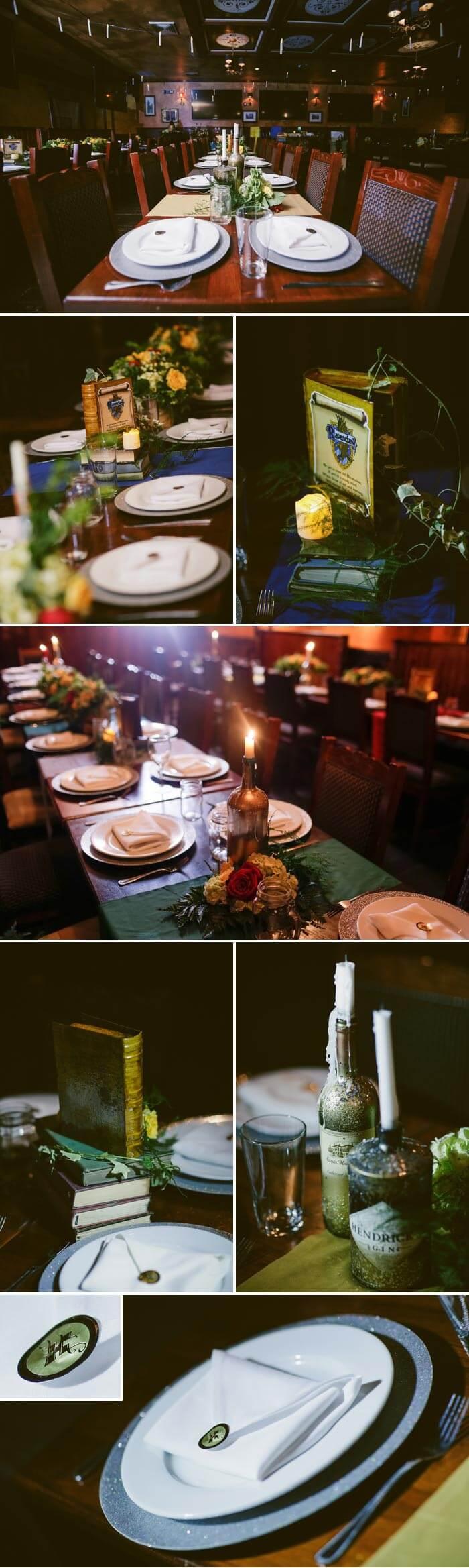 Harry Potter Hochzeit Tischdekoration