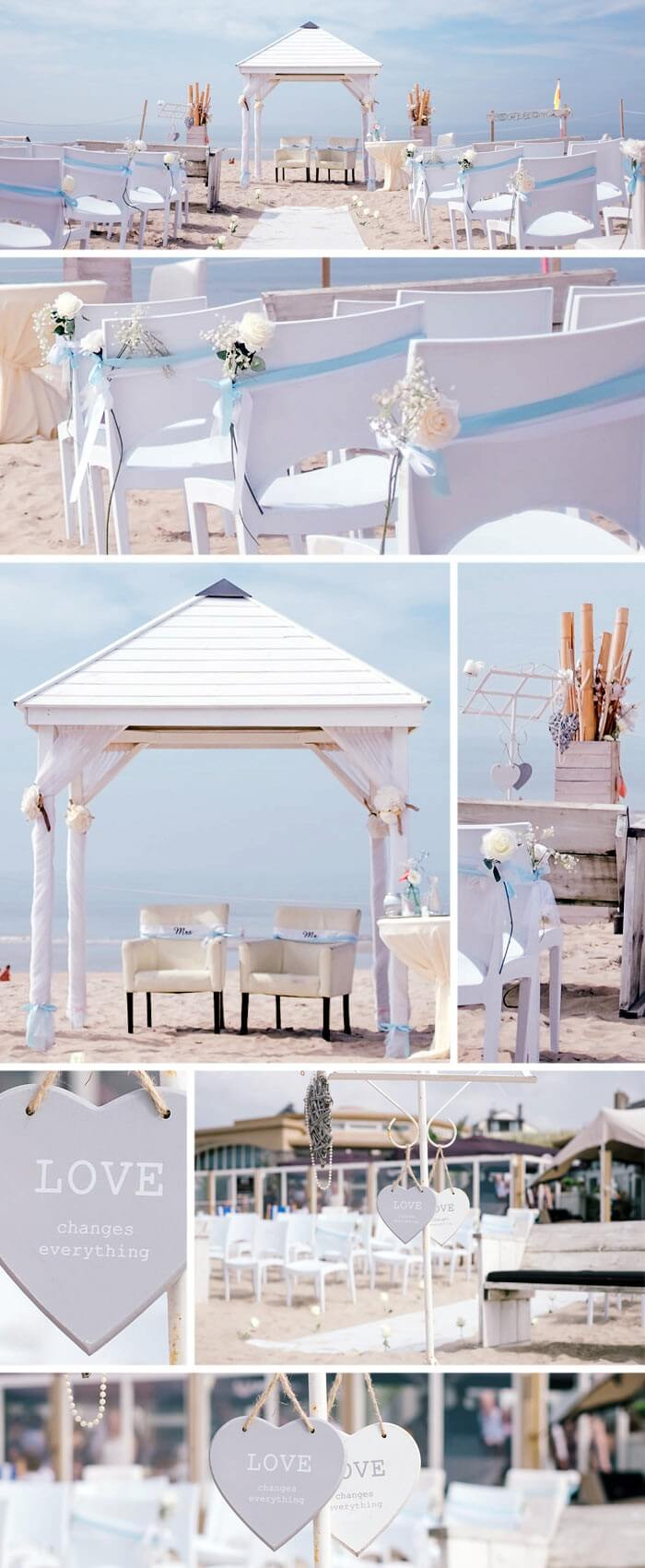 Heiraten am Strand Dekoration