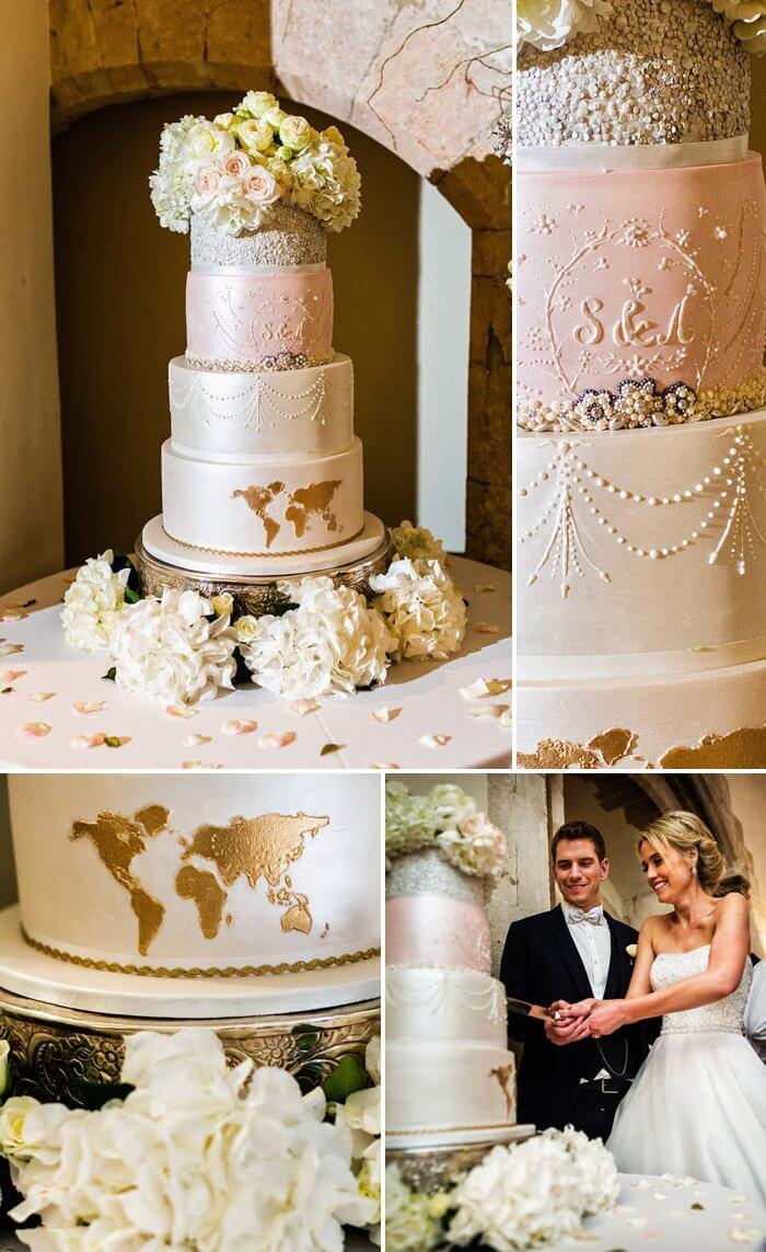 Helle Hochzeitstorte