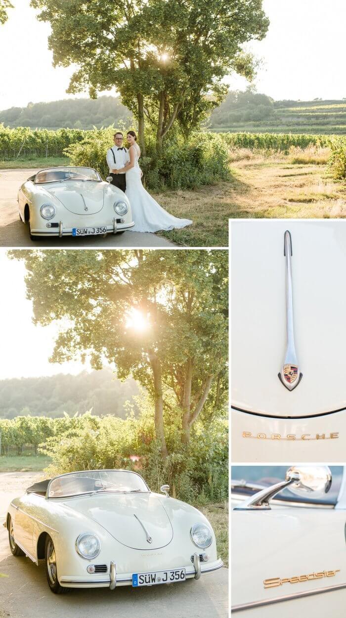 Porsche Hochzeitsauto