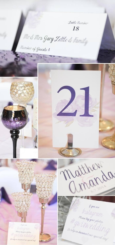 Tischdeko Flieder Hochzeit