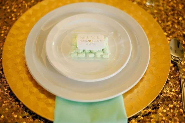Hochzeit in Gold & Mint