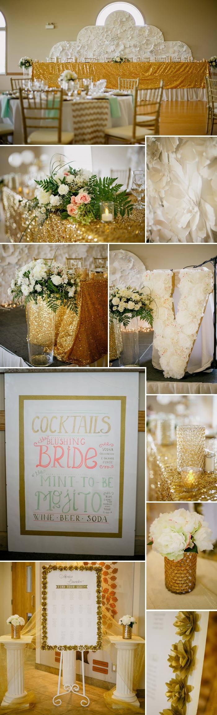 Hochzeitsdeko Gold