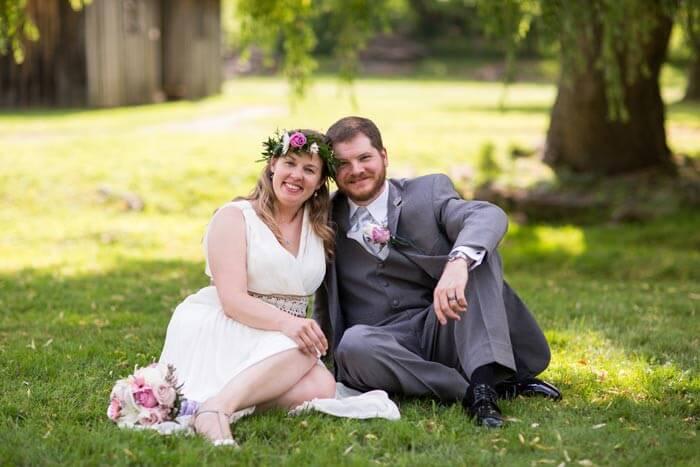 Heirat im Park
