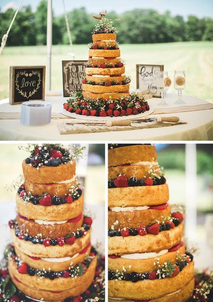 Hochzeit mit Naked Cake