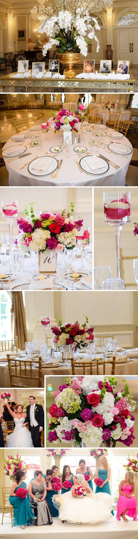 Hochzeitsdeko Blumen Pink