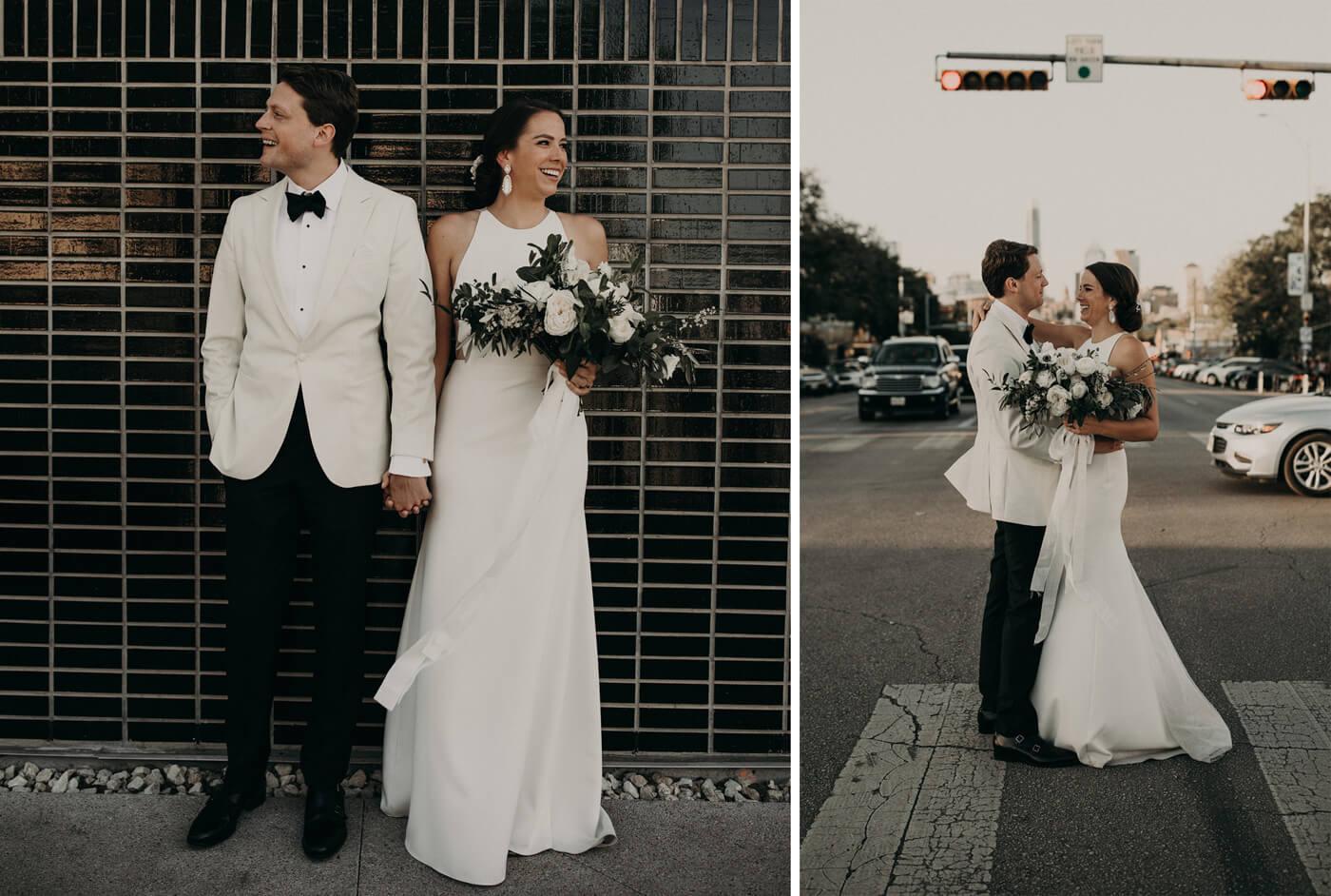 Brautpaar Schwarz Weiß