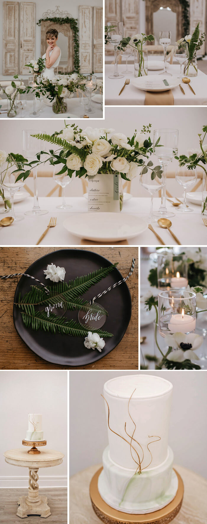 Schwarz Weiß Hochzeit