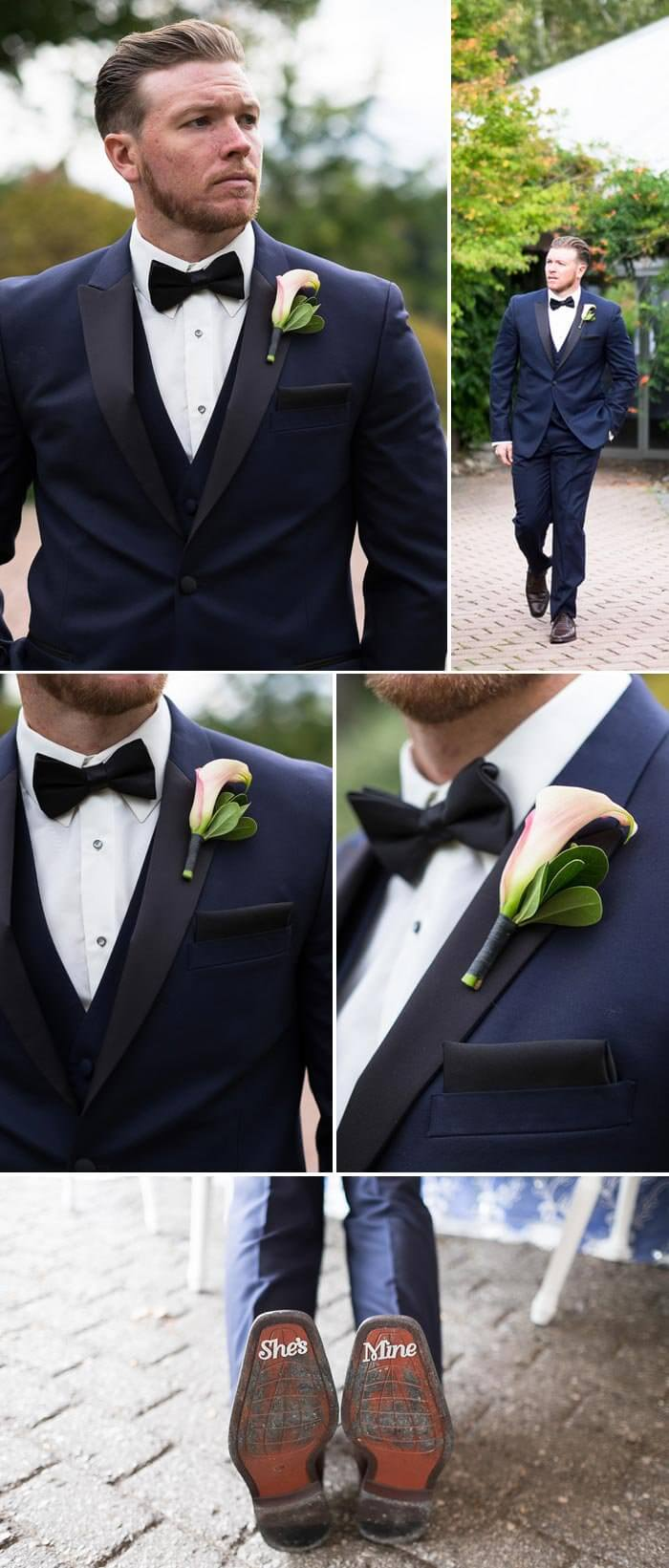 Bräutigamanzug Blau
