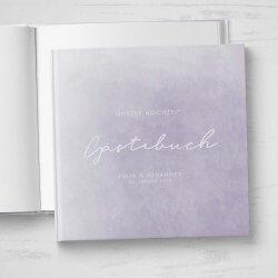 Gästebuch Hochzeit lila