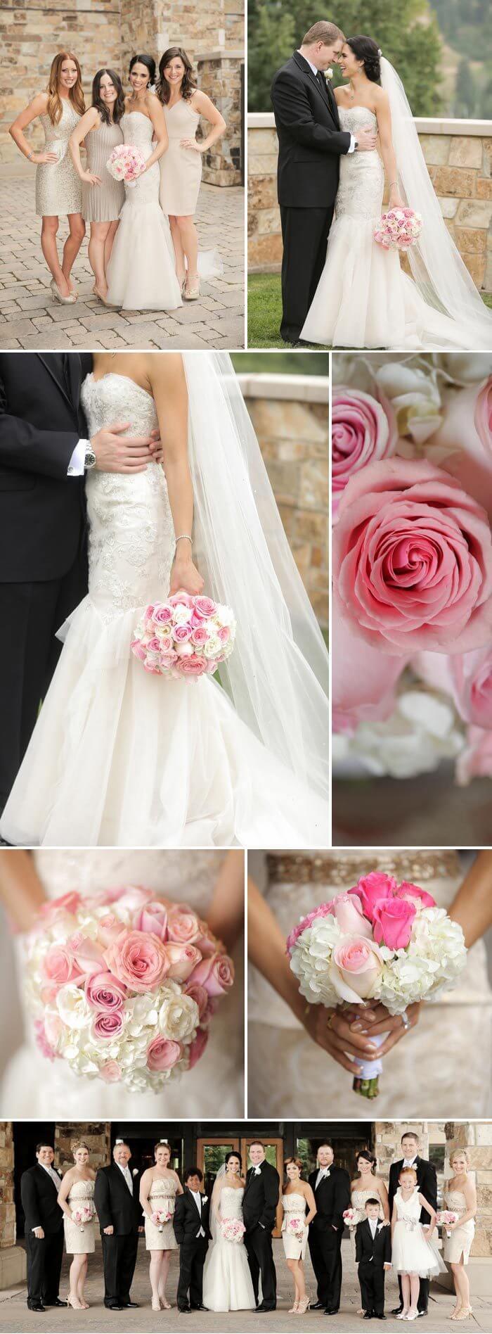 Hochzeit in Rosa und Gold