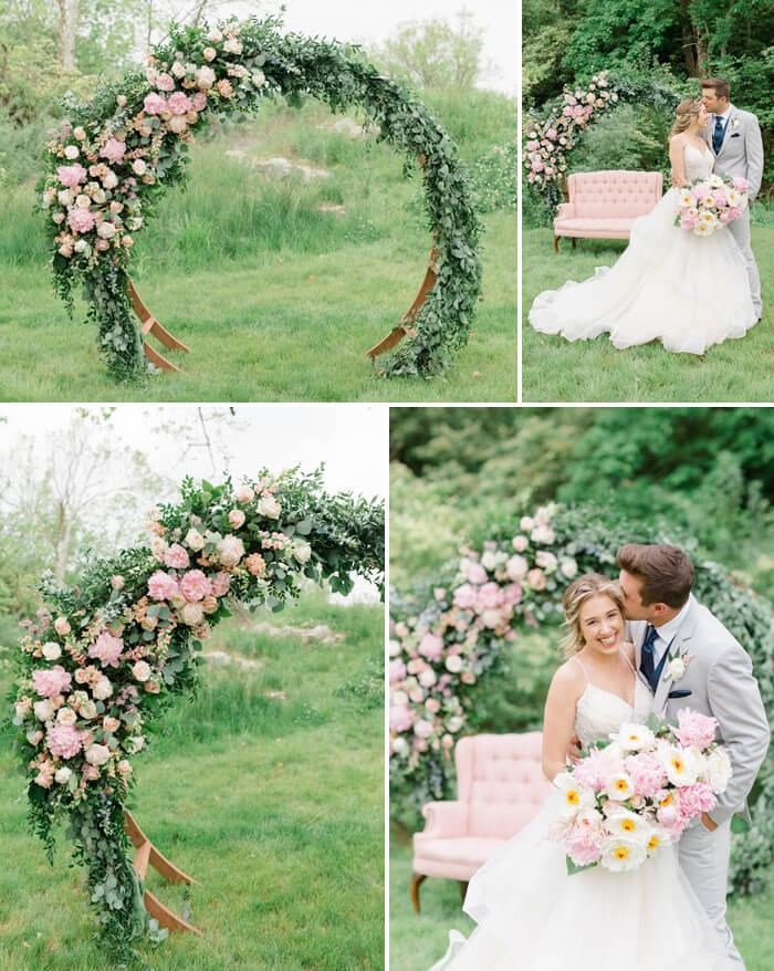 Hochzeitsdeko Rosa Weiß
