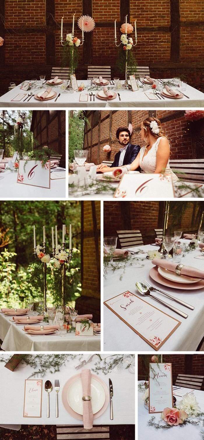 Tischdeko kleine Hochzeit