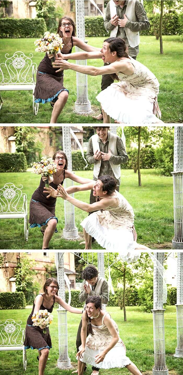 Brautstrauß fangen