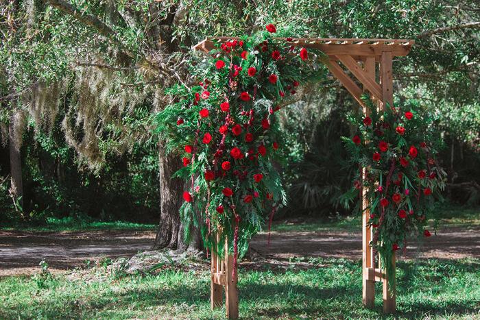 Hochzeit Rosenbogen