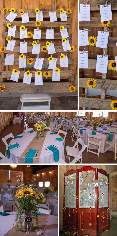 Hochzeit Tischdeko Sonnenblumen