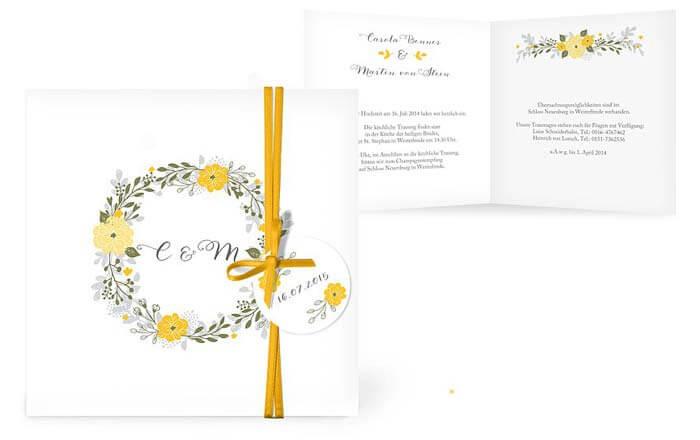 Hochzeitseinladung Sonnenblume