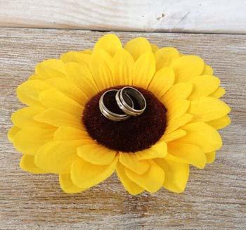 Sonnenblume Ringkissen