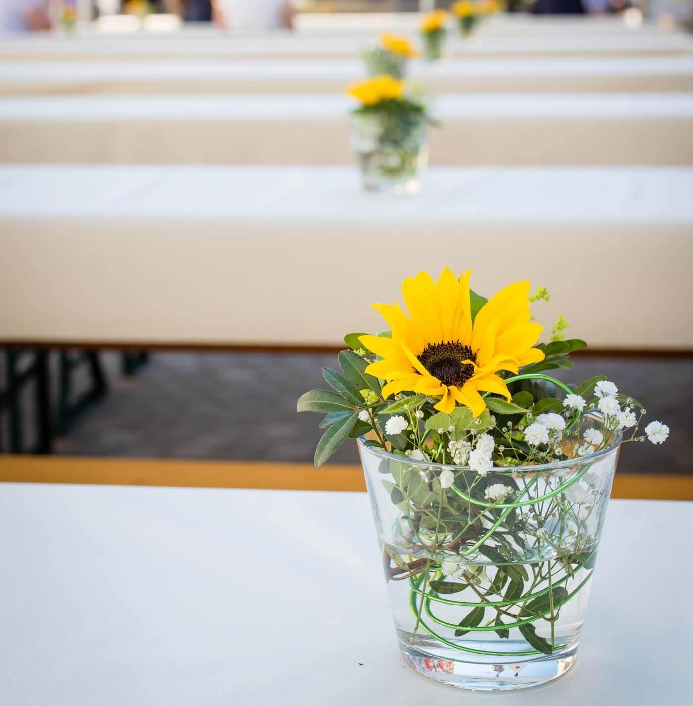 Sonnenblumen Deko Hochzeit
