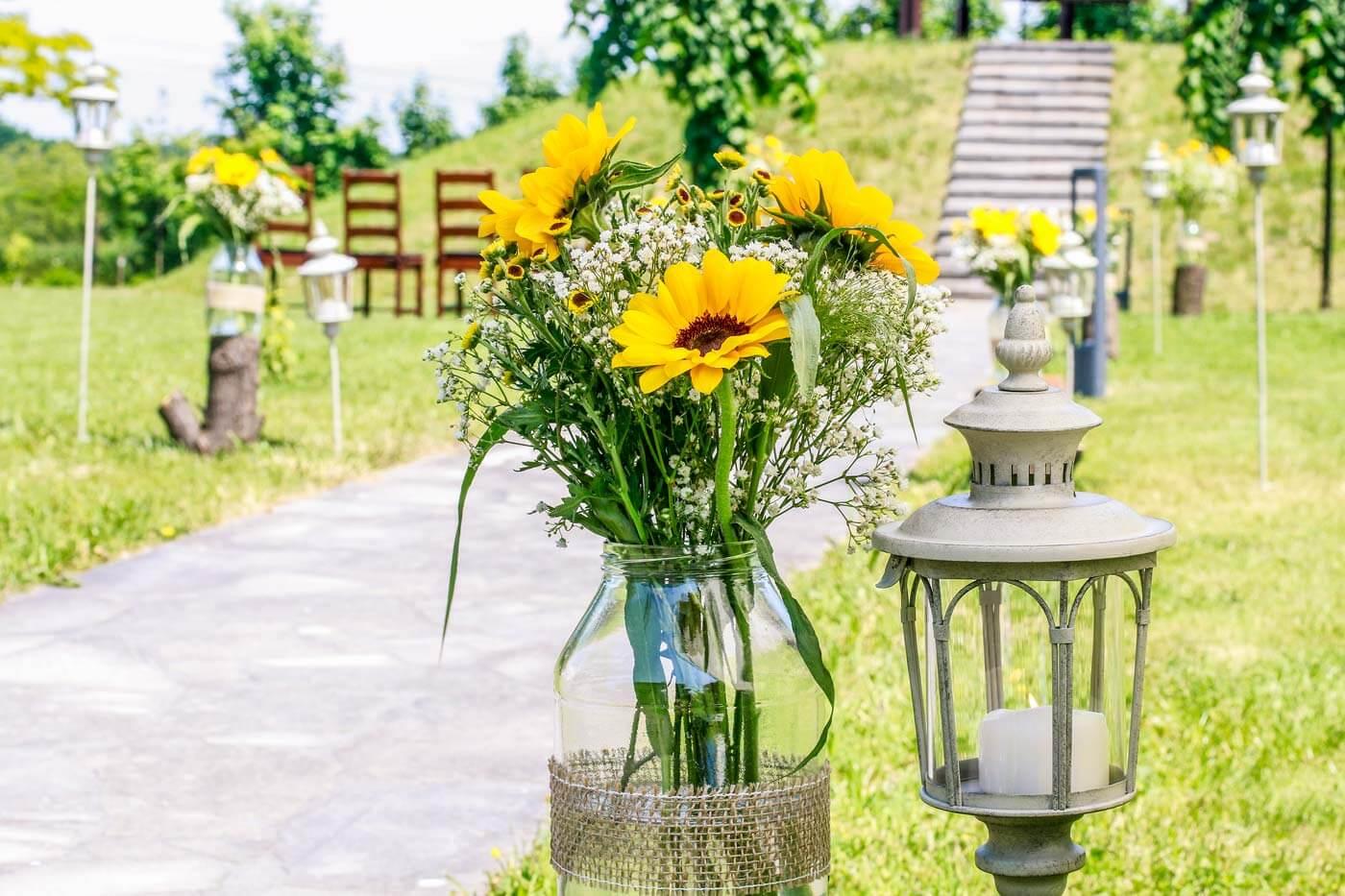 Sonnenblumen Deko