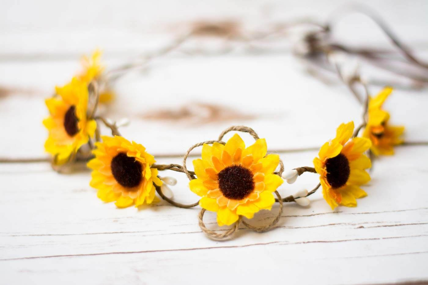 Sonnenblumen Haarschmuck