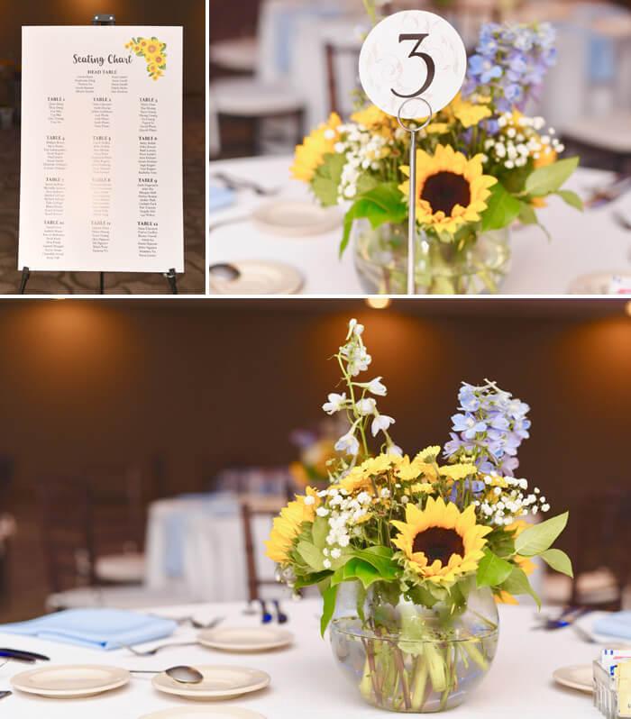 Sonnenblumen Tischdeko