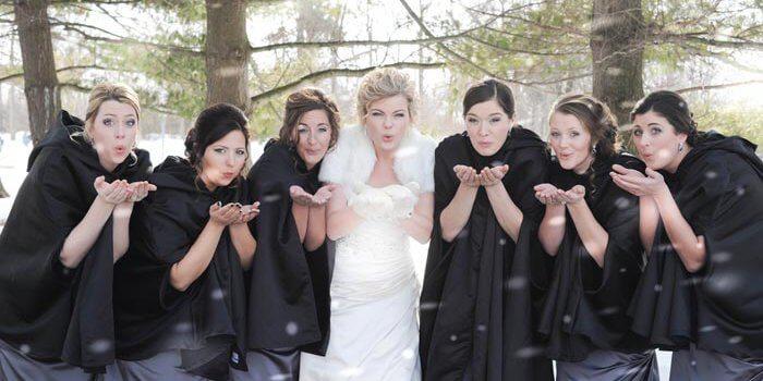 Schnee-Hochzeit