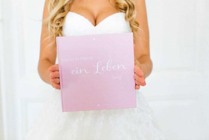 Gästebuch Hochzeit rosa