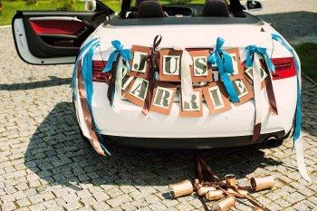 Autodekoration Hochzeit selber machen