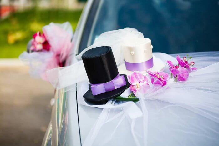 Autoschmuck Autodeko Hochzeit