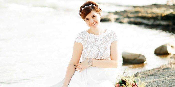 Brautfrisur mit kurzen Haaren