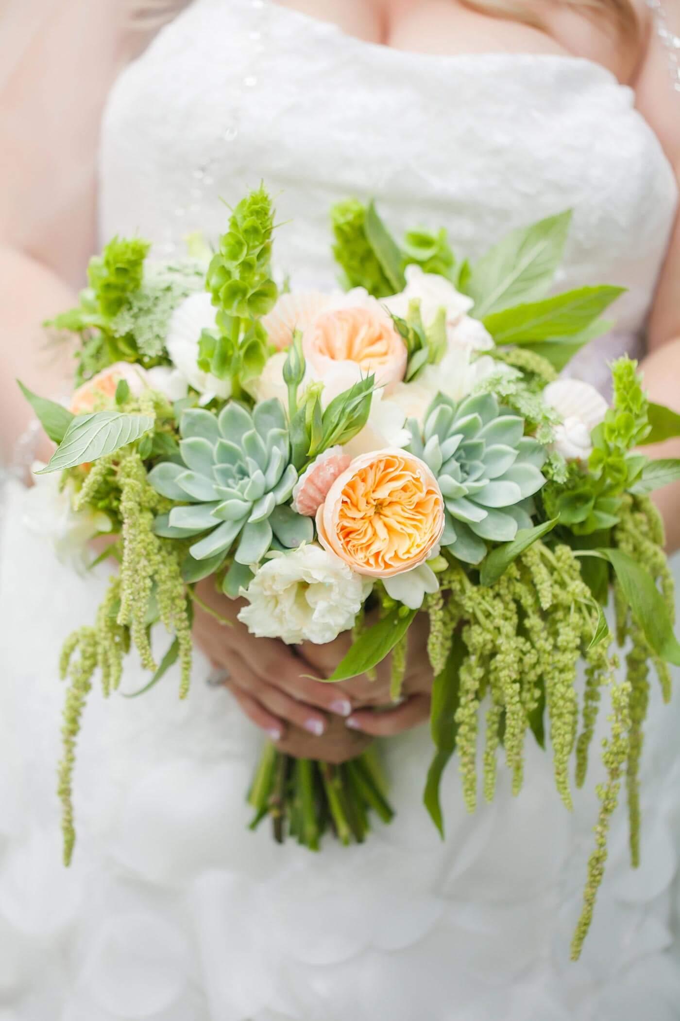 Brautstrauß Sukkulenten