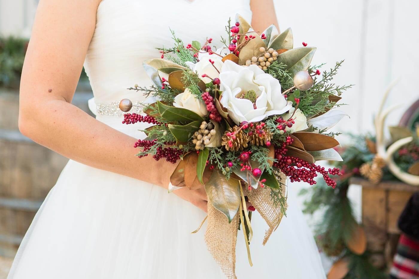 Brautstrauß winterlich