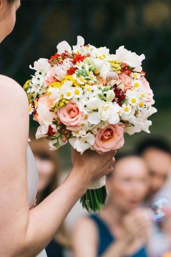 Brautstrauß Kamille