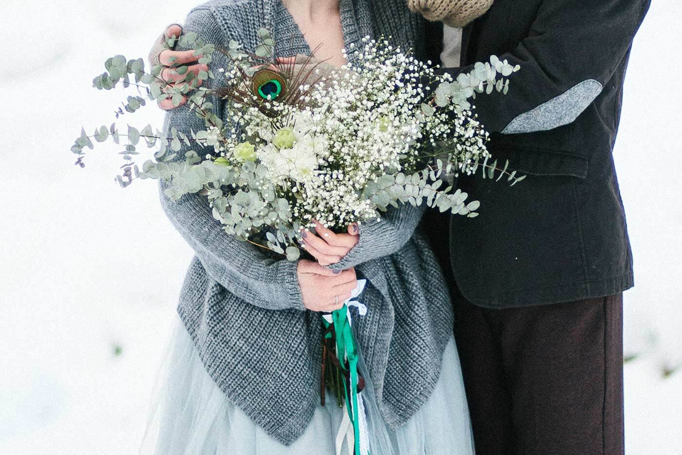 Brautstrauß für den Winter