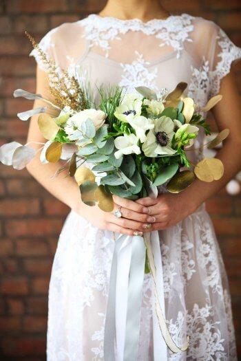 Brautstrauß gold