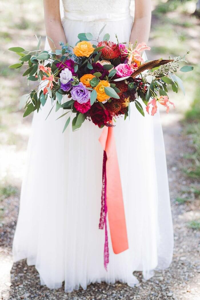 Brautstrauß mit Eukalyptus