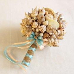 Brautstrauß mit Muscheln
