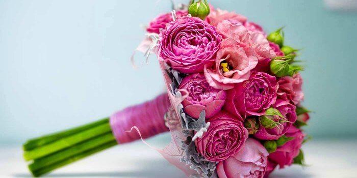 Hochzeitsstrauß Rosen pink
