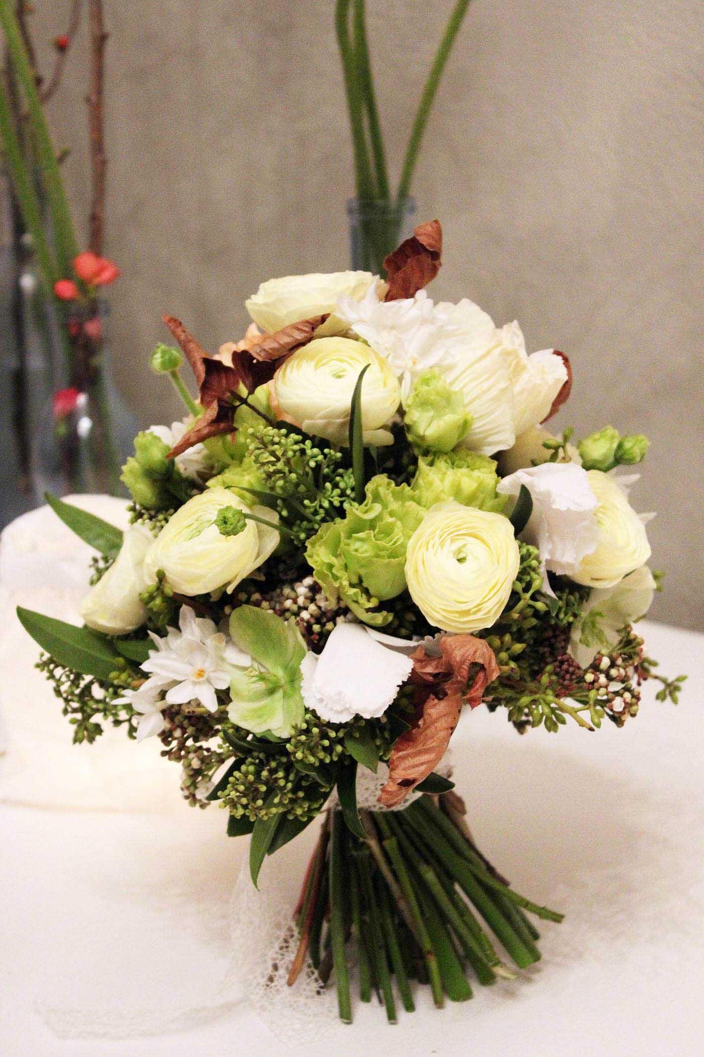 Winter Brautstrauß für die Tischdeko
