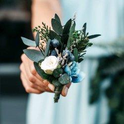 Anstecker Hochzeit Eukalyptus