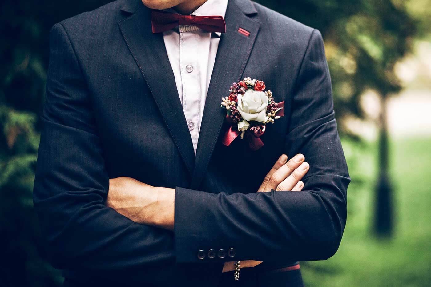 Anstecker für Hochzeit