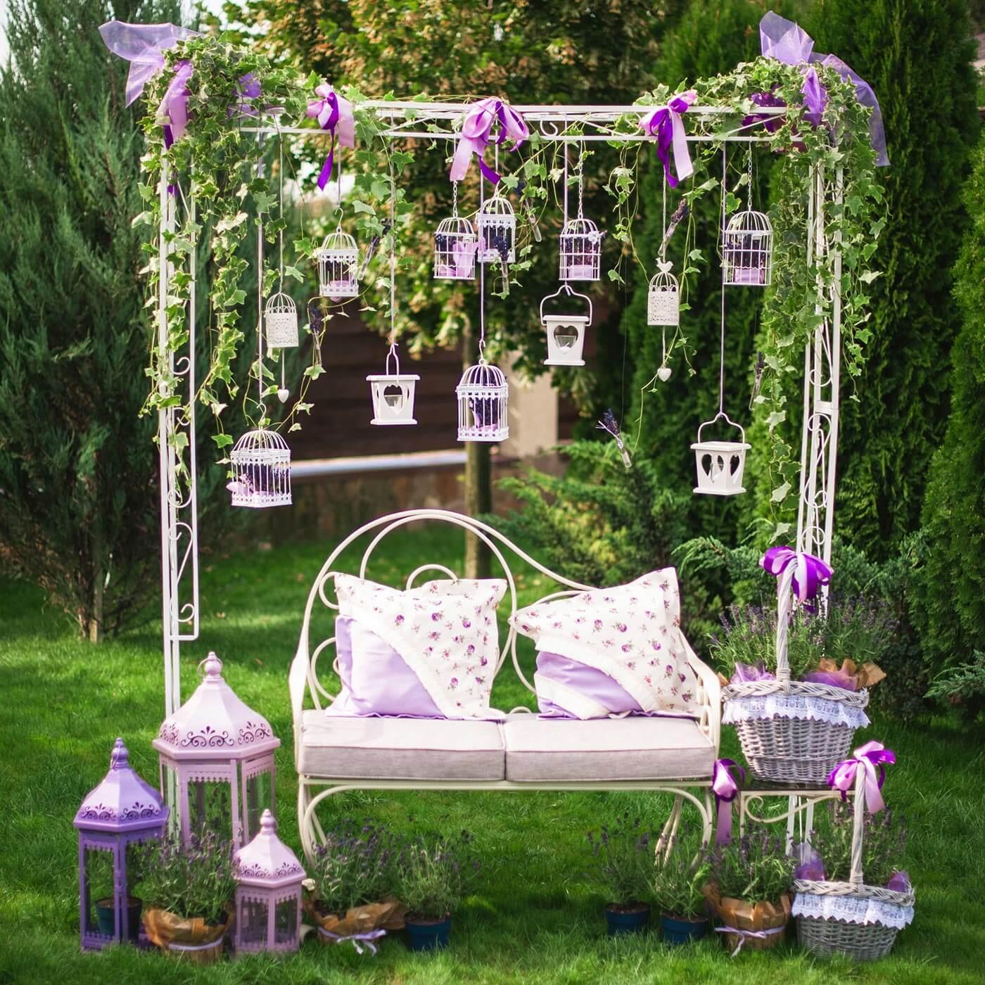 Gartendeko für die Hochzeit