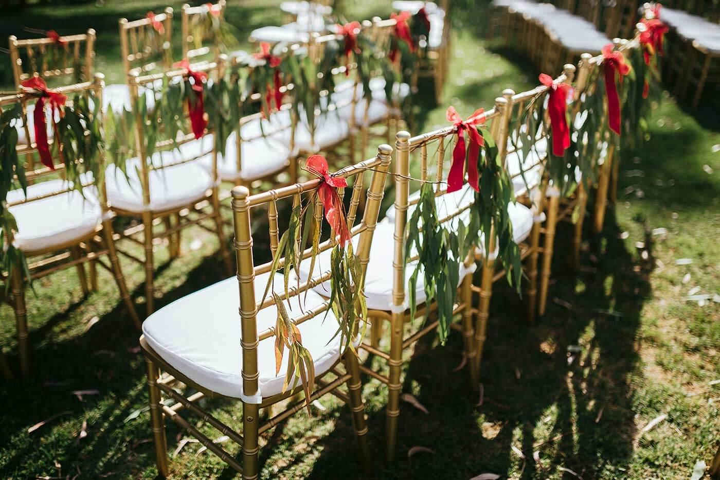 Stuhl-Deko Hochzeit