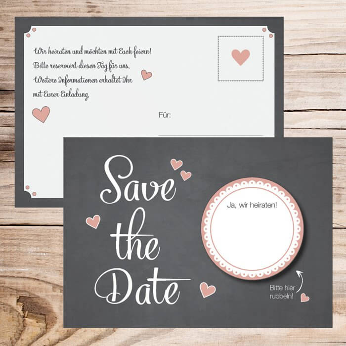Coole Save the Date Karte