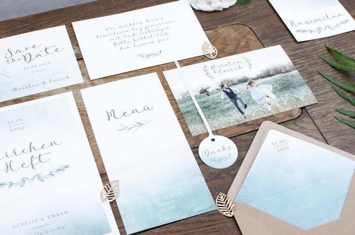 Einladungskarten Hochzeit Grün