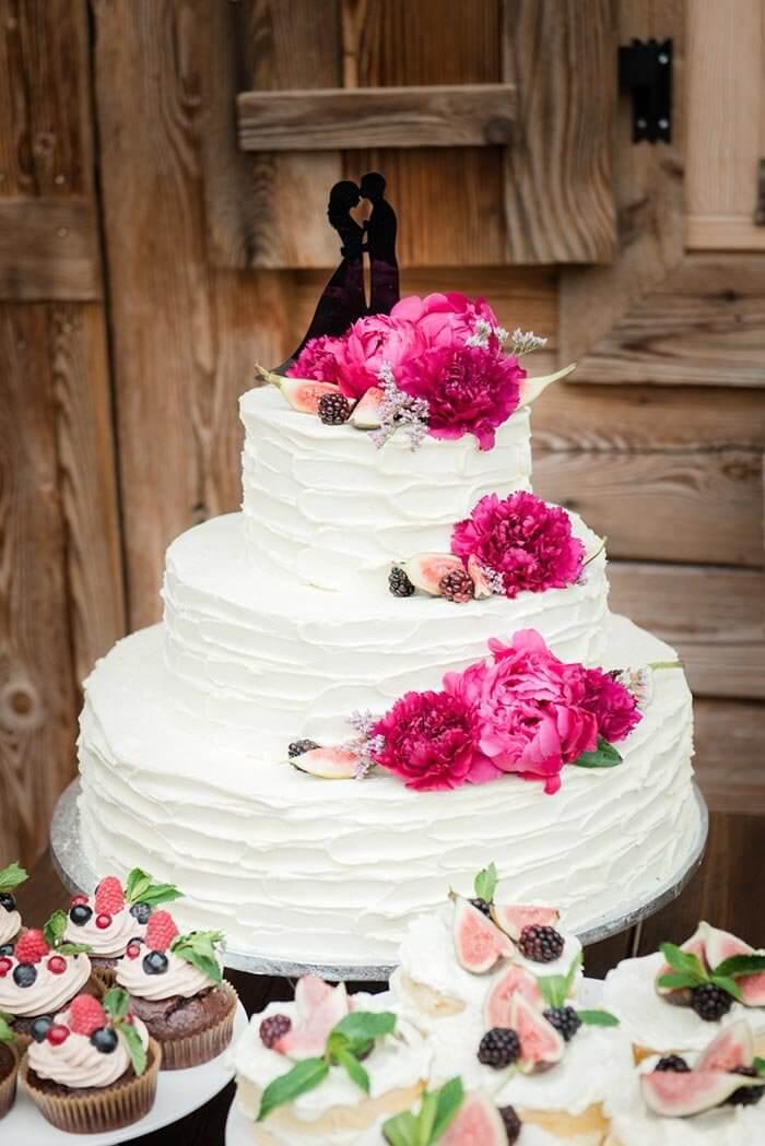Buttercreme Hochzeitstorte